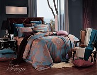 Freya by Dolce Mela, 6-PC Queen Size Duvet Cover Set Luxury Linen Bedding Set in Beautiful Gift Box