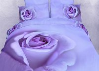 Midnight Rose, Queen Bedding Romantic Print Luxury Duvet Cover Set by Dolce Mela