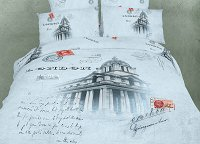 London - Novelty Bedding Twin Size 4 Piece Duvet Cover Set, Dolce Mela, DM496T