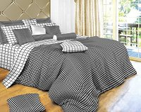 Black & White Check - Black & White Check Bedding, 4 Piece Twin Duvet Cover Set, Dolce Mela DM497T