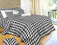 Houndstooth Check - Houndstooth Check Bedding, 4 Piece Twin Duvet Cover Set, Dolce Mela DM498T