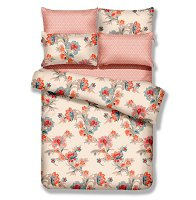 Queen Size 6 Piece Duvet Cover Sheets Set, Abloom