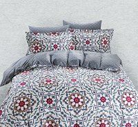 Duvet Cover Sheets Set, Dolce Mela Lanzarote Queen Size Bedding