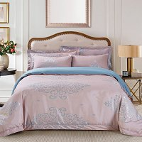 Ancona, Luxury Jacquard Queen Size Duvet Cover Set - Dolce Mela