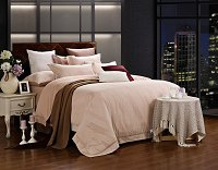 Capri by Dolce Mela, 6-PC Queen Size Duvet Cover Set Luxury Linen Bedding Set in Beautiful Gift Box