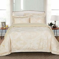 Regal, Luxury Jacquard King Size Duvet Cover Set - Dolce Mela