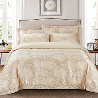 Rimini, Luxury Jacquard Queen Size Duvet Cover Set - Dolce Mela