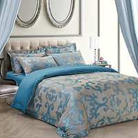 Venice, Luxury Jacquard King Duvet Cover Set - Dolce Mela
