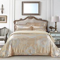 Verona, Luxury Jacquard Queen Size Duvet Cover Set - Dolce Mela