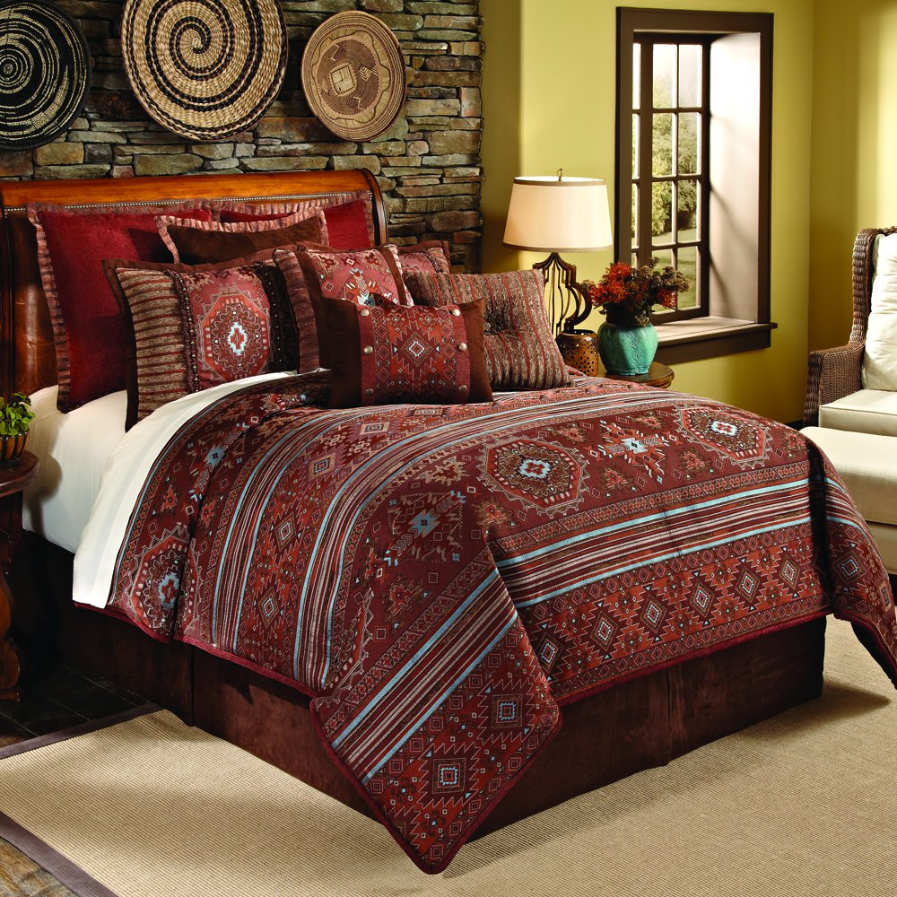 Rust Comforter Set In Full Pueblo
