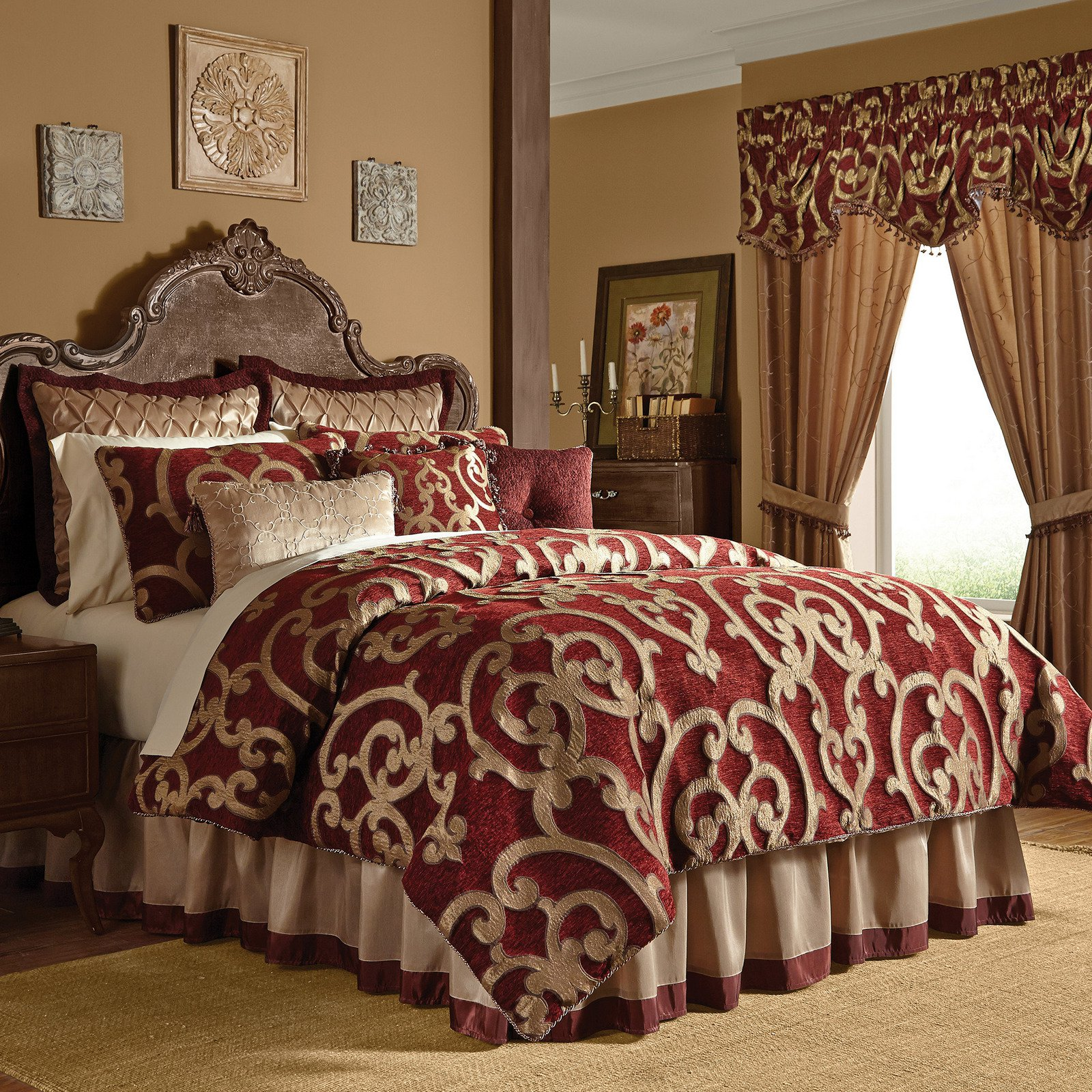 Modern Queen Bedroom Sets Red Comforter Set In King Or Queen Corsica