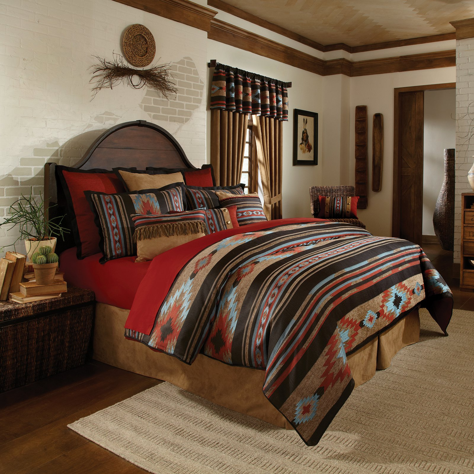 Rust Comforter Set In King Full Or Queen Santa Fe