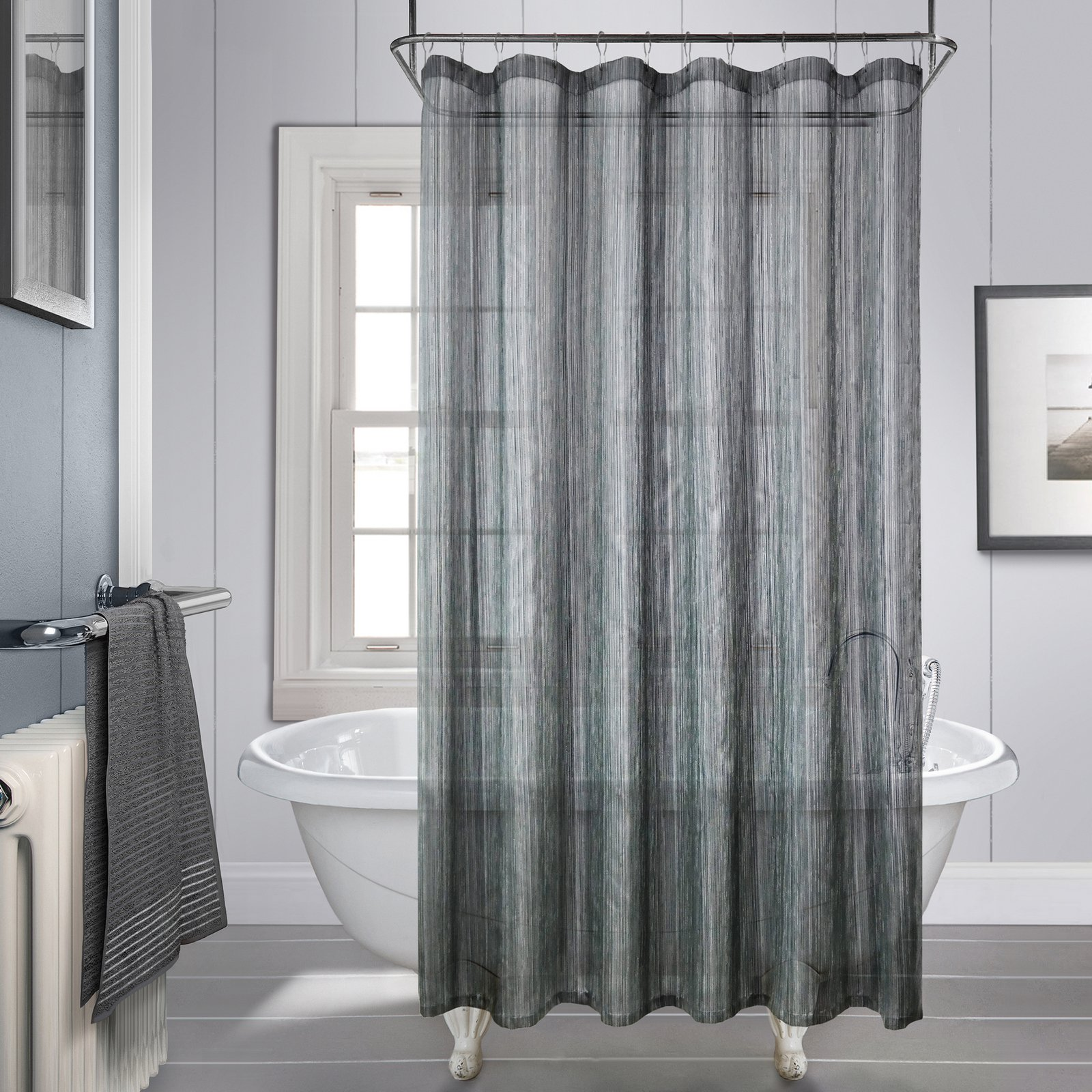 Charcoal Shower Curtain Royce