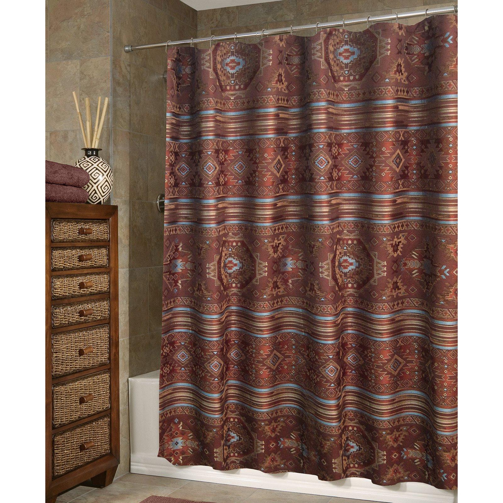 Rust Shower Curtain Pueblo Bath