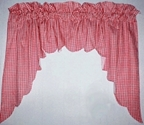 Swag Valances in Gingham and Solid Colors