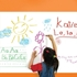 Girl writing on large erasable wall decal whiteboard.