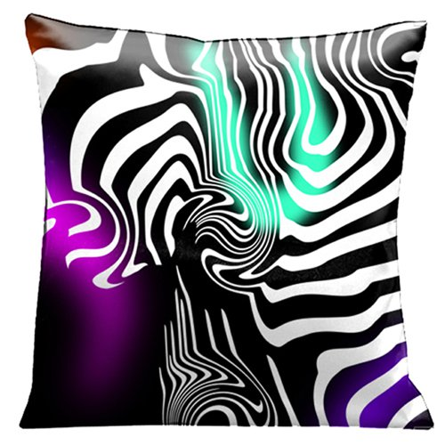 Lama Kasso Pillow 50 Contemporary White Graphics On