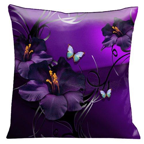 Lama Kasso Pillow 72 Aqua And Green Tropical Butterflies