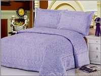 Odessa Purple, Purple Colored Light Fabric Bedcover with Tufted Abstract Flowery Designs by Le Vele, 3-PC Queen Size Bedspread