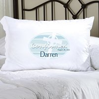 Blue Celtic Blessings Confirmed Personalized Pillowcase (personalized with name and date of Confirmation, upto 20 characters per line)