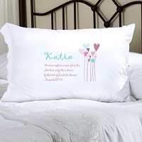 Proverbs Personalized Pillowcase (inscribe pillowcase with name or other personal inscription, upto 20 characters)
