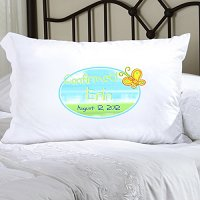 Sunshine and Butterflies Confirmed Personalized Pillowcase (personalized with name and date of Confirmation, upto 20 characters per line)