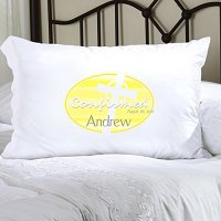 Yellow Celtic Blessings Confirmed Personalized Pillowcase (personalized with name and date of Confirmation, upto 20 characters per line)