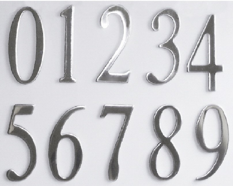 Stainless Steel Mailbox Or House Numbers 3inch With