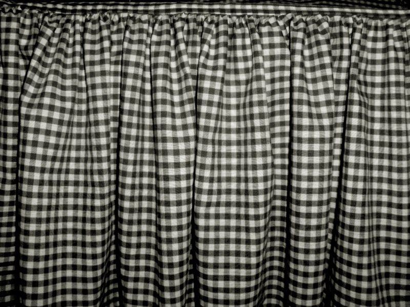 Black Gingham Check Bedskirt In All Sizes From Twin To