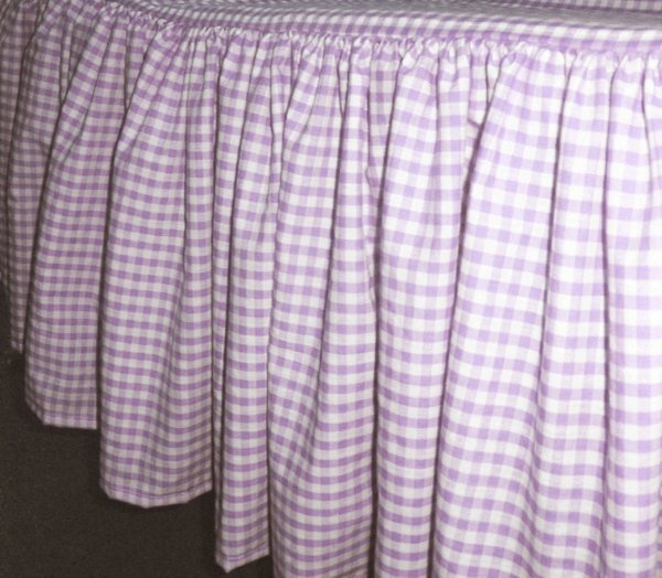 Light Purple Gingham Check Bedskirt In All Sizes From