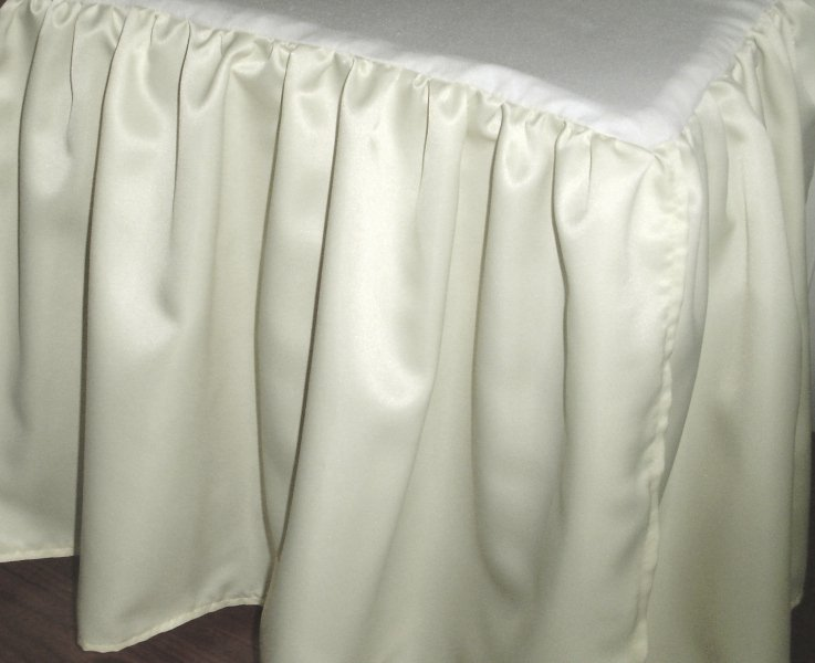 Ivory Satin Bedskirt In All Sizes Including Crib And