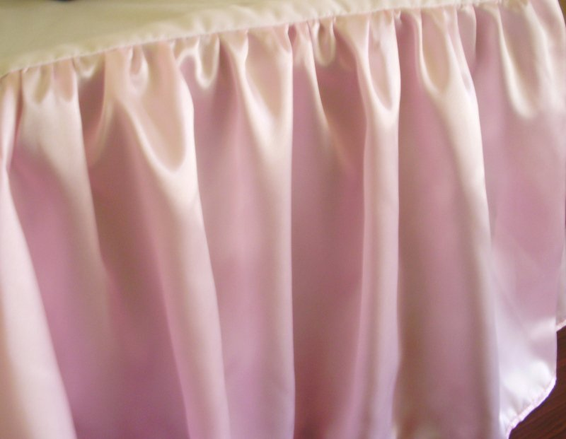 Pink Satin Bedskirt In All Sizes Including Crib And