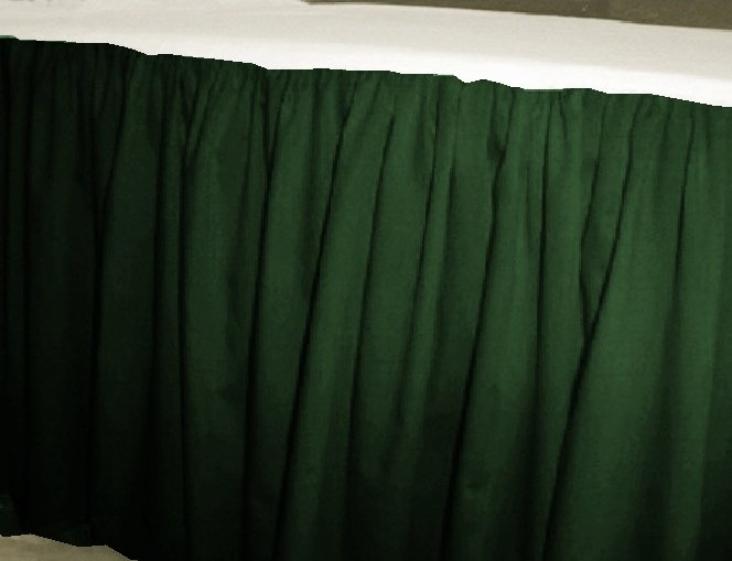 Solid Dark Forrest Green Colored Bedskirt In All Sizes
