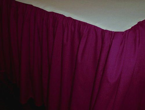 Solid Dark Burgundy Wine Colored Bedskirt In All Sizes