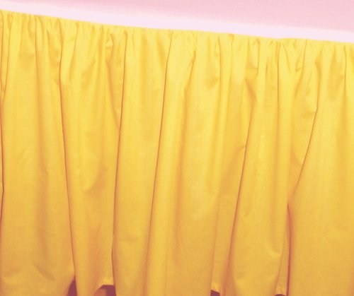 King Size Solid Golden Yellow Colored Bedskirt Regular
