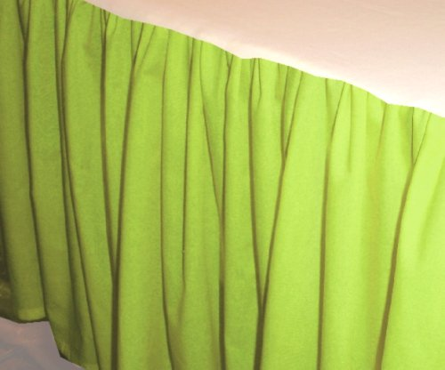Solid Lime Colored Bedskirt In All Sizes From Twin To Cal