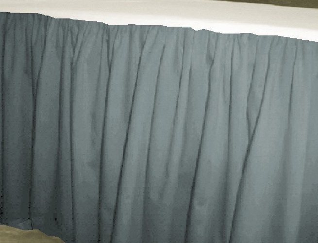 Solid Wedgewood Blue Colored Bedskirt (in all sizes from