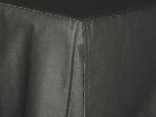 Charcoal Gray Tailored Bedskirt For Cribs And Daybeds And