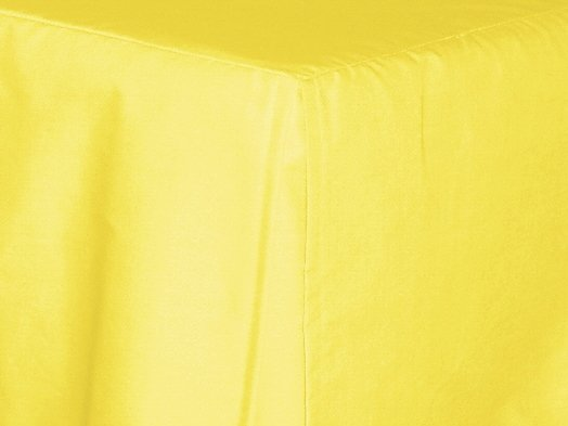 Lemon Bright Yellow Tailored Bedskirt For Cribs And