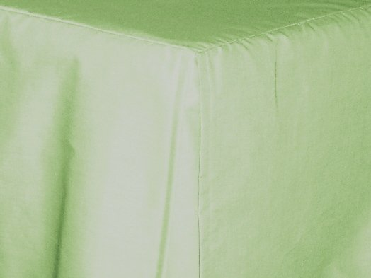 Light Green Pale Tailored Bedskirt For Cribs And Daybeds