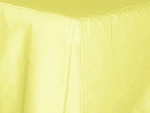 Light Yellow Tailored Bedskirt For Cribs And Daybeds And