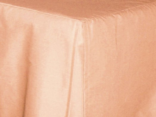Peach Apricot Tailored Bedskirt For Cribs And Daybeds And