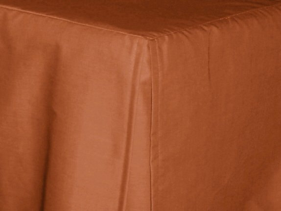 Rust Tailored Bedskirt For Cribs And Daybeds And Twin