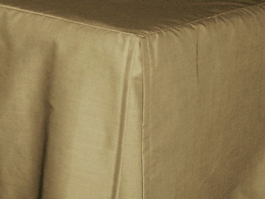 Taupe Khaki Tailored Bedskirt For Cribs And Daybeds And