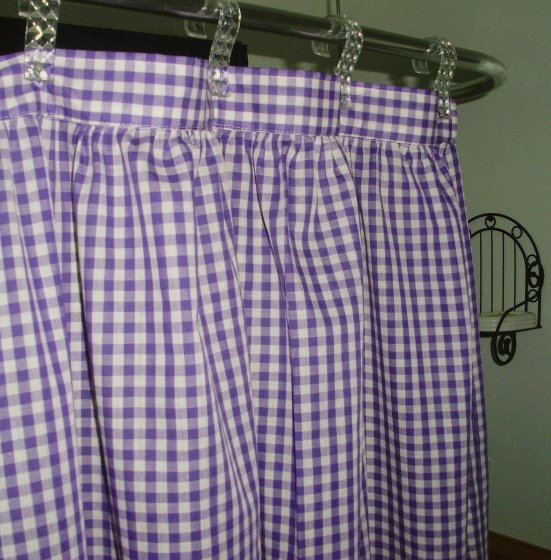 Purple Gingham Check Shower Curtain