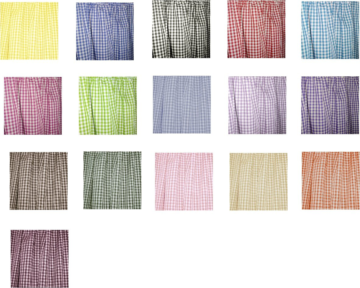 Single Panel French Door Curtain Available In All Gingham