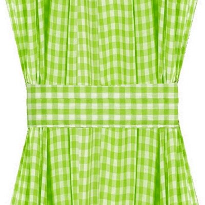Lime Green Gingham French Door Curtain Panels Available In Many