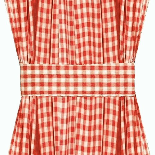 Red Gingham French Door Curtain Panels (available In Many