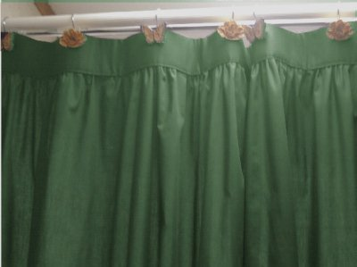 hunter green kitchen curtains solid green colored shower curtain 4384
