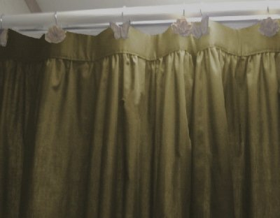Solid Olive Green Colored Shower Curtain